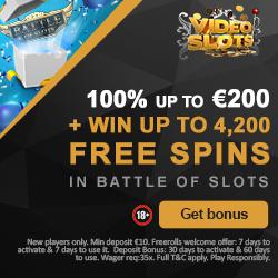 www.Videoslots.com - Bis zu $200 Bonus | 11 Willkommens-Spins!